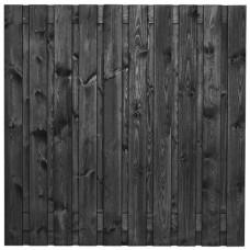 Tuinscherm Stuttgart zwart gespoten grenen 180x180 cm