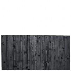 Tuinscherm Stuttgart zwart gespoten grenen 180x90 cm