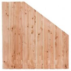 Tuinscherm Zwarte woud lariks/douglas 180>90x180 cm