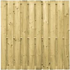Tuinscherm geïmpregneerd vuren 180x180 cm 19-planks 103286