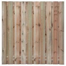 Aanbieding tuinscherm geïmpregneerd grenen 21-planks 180x180 cm recht