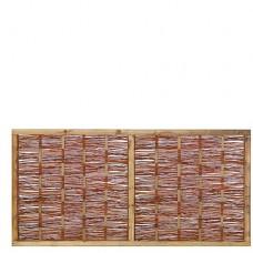Tuinscherm wilgenteen 90x180 cm
