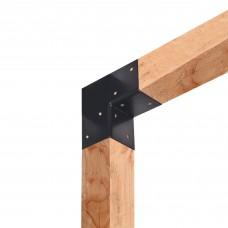 Paalverbinder 2-weg 90 graden hoek 12x12 cm