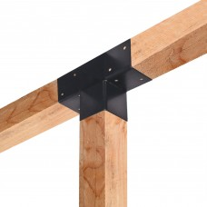 Paalverbinder 3-weg  t-model hoek 15x15 cm