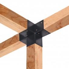 Paalverbinder 4-weg 90 hoek 12x12 cm