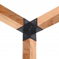 Paalverbinder 3-weg hoek 12x12 cm hoek + staander