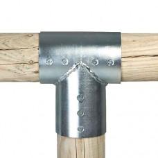 Gegalvaniseerde verbindingsstukken set 3-weg 10 cm