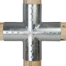 Gegalvaniseerde verbindingsstukken set 4-weg 10 cm