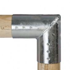 Gegalvaniseerde verbindingsstukken set eind hoek stuk 10 cm