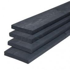 Kantplank vuren zwart 2,2x20x400 cm fijnbezaagd 133893