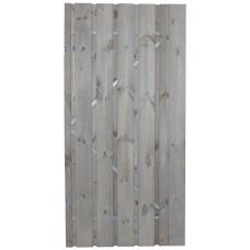 Tuindeur Privacy zilvergrijs gedompeld grenen inclusief slot 195x100 cm