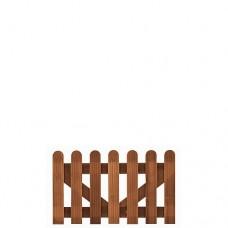 Tuinhekdeur hardhout bangkirai 60x100 cm 103406