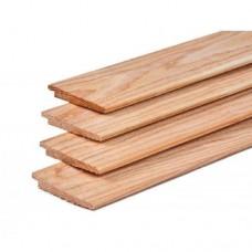 Potdekselplank lariks douglas bezaagd 1,1-2,2x19,5 cm