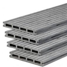 Vlonderplank composiet 2,1x15x400 cm oud grijs