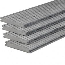 Vlonderplank composiet massief 2x14x400 cm oud grijs