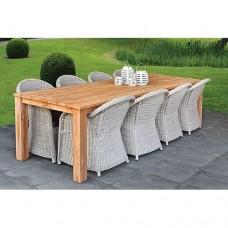Teak dinner tafel rustiek 180 x 90 cm