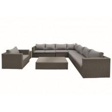Wicker loungeset Daytona donker bruin