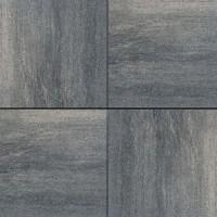 Straksteen 60x60x4 cm grijs zwart