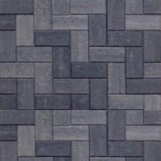 Betonklinker 21x10,5x6 cm grijs zwart met deklaag