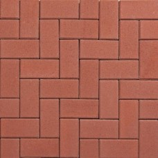 Betonklinker 21x10,5x8 cm rood met deklaag