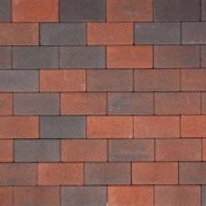 Betonklinker 21x10,5x6 cm rood zwart met deklaag