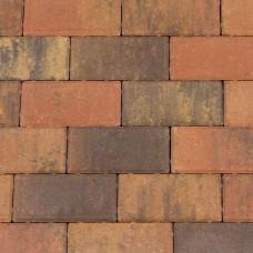 Halve betonklinker 10,5x10,5x8 cm bruin gv