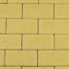 Halve betonklinker 10,5x10,5x8 cm geel