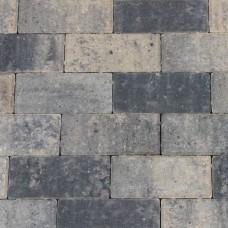Betonklinker 21x10,5x6 cm grijs zwart