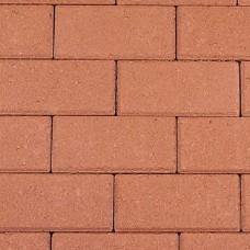 Halve betonklinker 10,5x10,5x8 cm rood
