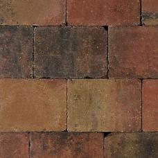 Trommelsteen 15x15x6 cm bruin gv