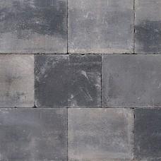 Trommelsteen 20x30x6 cm grijs zwart