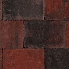 Trommelsteen 20x30x6 cm rood zwart