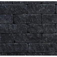 Splitrocks hoekstuk getrommeld 11x13x29 cm antraciet