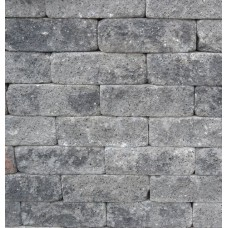 Splitrocks hoekstuk getrommeld 11x13x29 cm grijs zwart