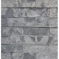 Splitrocks hoekstuk strak 11x13x29 cm grijs zwart