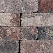 Splitrocks hoekstuk getrommeld 11x13x29 cm tricolore