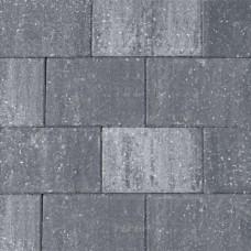 Straksteen 20x30x6 cm grijs zwart