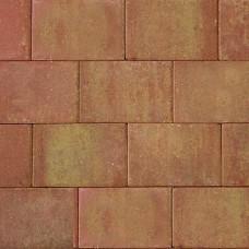 Straksteen 20x30x5 cm terracotta geel