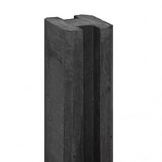 Betonpaal antraciet E-sleuf 10x10x270 cm