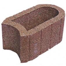Hangflor ovaal 40x25x20 cm bruin