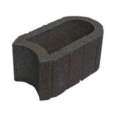 Hangflor ovaal 40x25x20 cm zwart