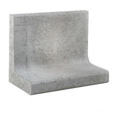 L-element 50x30x40 cm grijs