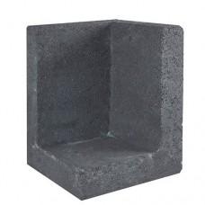 L-hoekelement 30x30x40 cm zwart