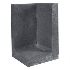 L-hoekelement 30x30x50 cm zwart
