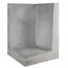 L-hoekelement 40x40x60 cm grijs
