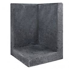 L-hoekelement 40x40x60 cm zwart