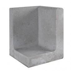 L-hoekelement 30x30x40 cm grijs