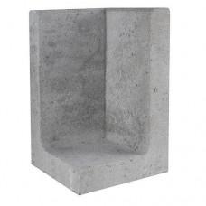 L-hoekelement 30x30x50 cm grijs