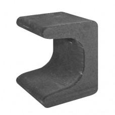 U-element 30x30x40 cm zwart