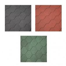 Dakshingles hexagonaal